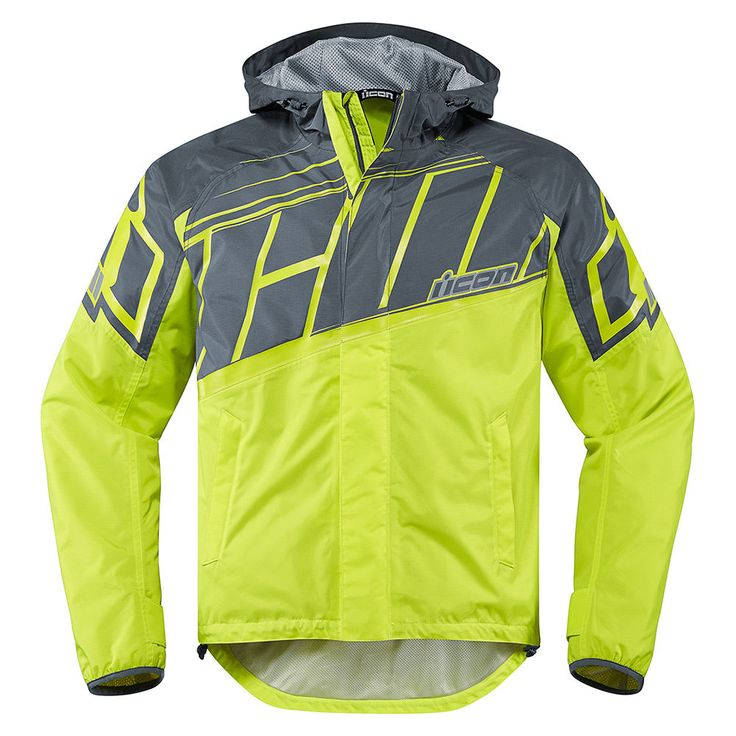 Don't avoid the rain; prepare for it. The PDX2 is the next generation in ICON's 'riding gear that doesn't suck' line. The pattern of the shell is cut to fit over your normal ridinggear. Its roll-top hood seals against the neck during the ride, then unfurls to cover your helmet hair when you arrive at your destination. Waterproof nylon, complete seam sealing, topped off with a fresh updated graphic and reflective hits: keeps you dry and looking awesome.