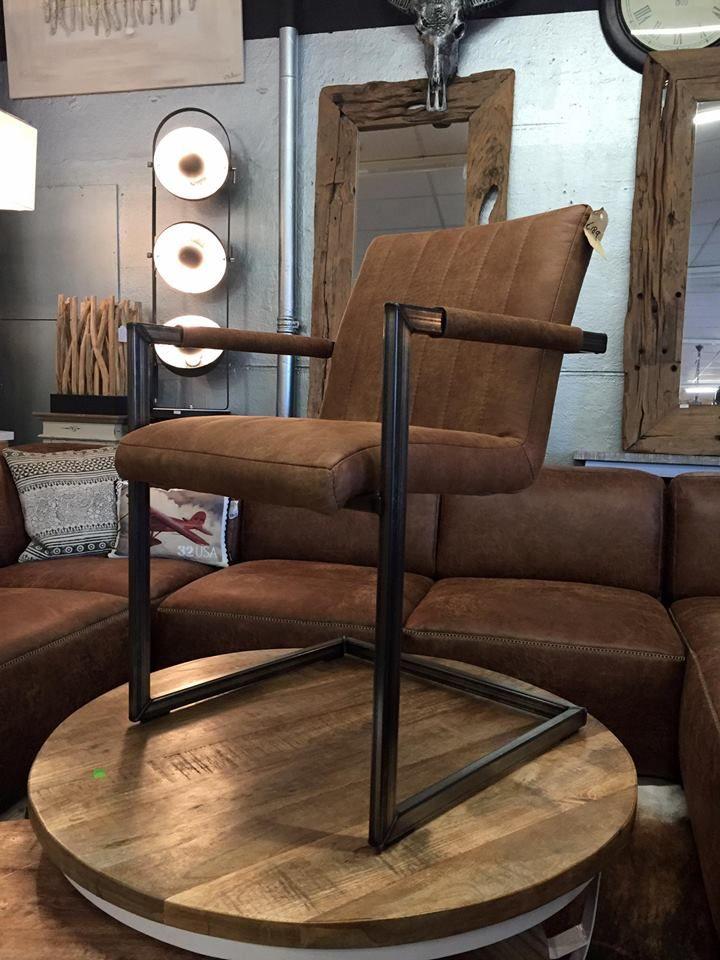 Industriële stoel Romy in vlekwerend colorado eco leder aanbieding voor €189,00