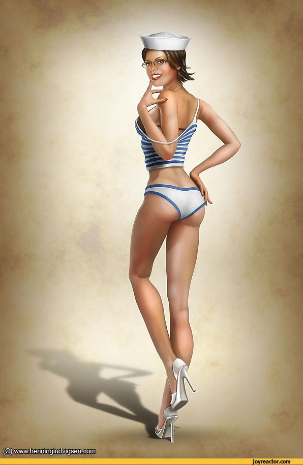 nude pin up gif