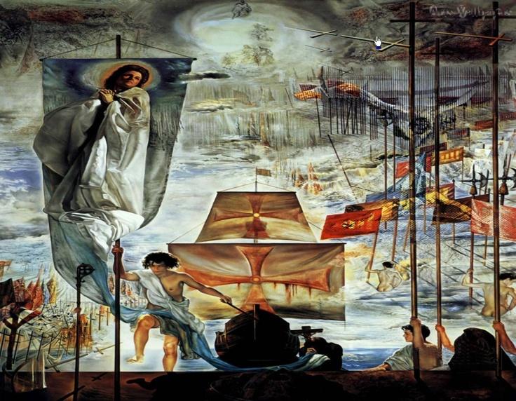 El sueño de Cristóbal Colón por Dalí | Peintures de salvador dali, L'art salvador dali, Salvador ...