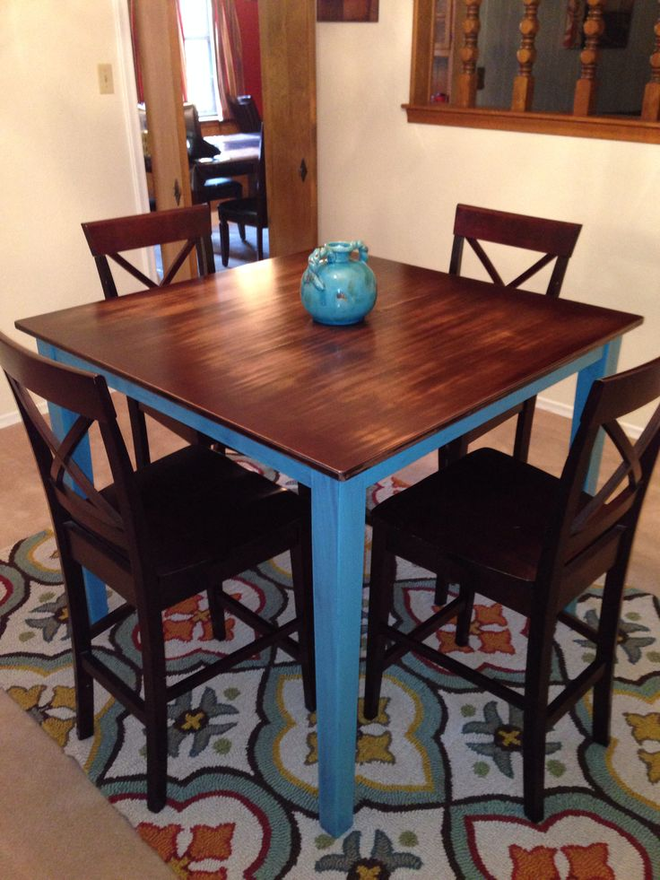Rustic Pub Table High Top Table Kitchen Pub Table And