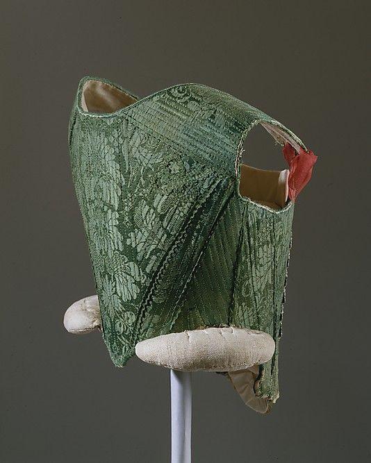 Corset, third quarter 18th century, probably Spanich, silk