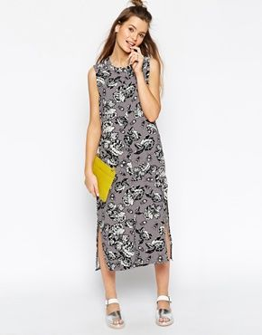 ASOS AFRICA Shirt Dress in Shadow  Floral Print