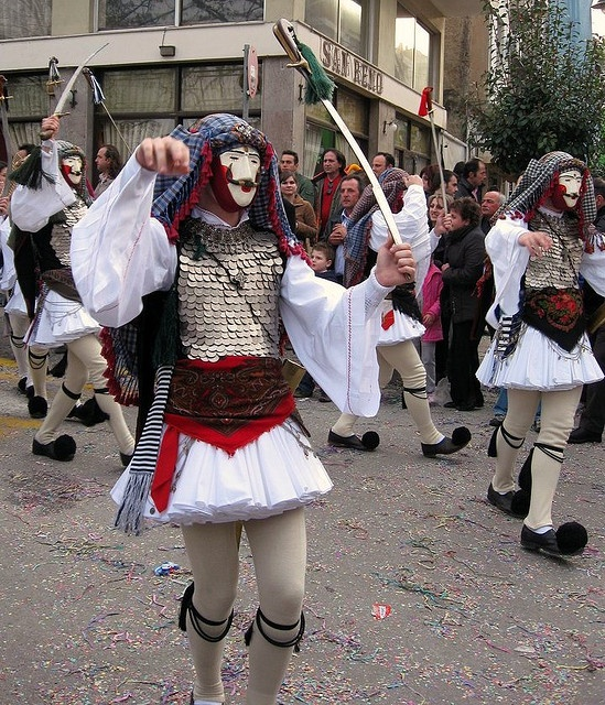 Traditional Carnival Celebration in Naoussa