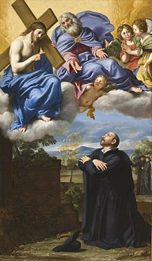 File:Saint Ignatius of Loyola's Vision of Christ and God the Father at La Storta