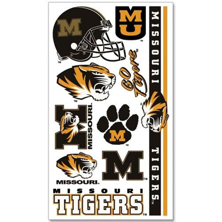 Missouri tigers temporary tattoos easily removed with