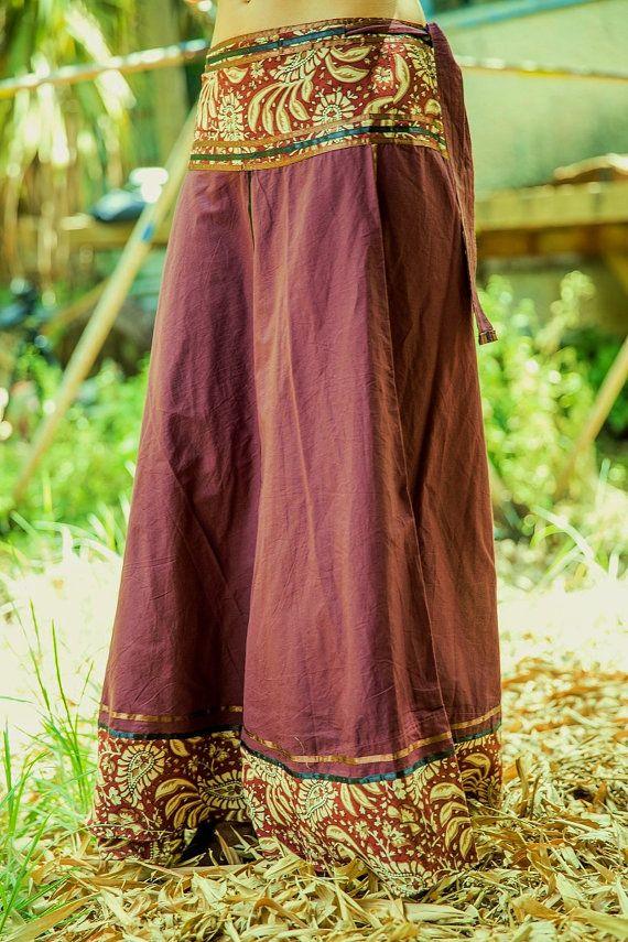 Envolver falda larga falda gitana falda Tribal por SamayaFashion
