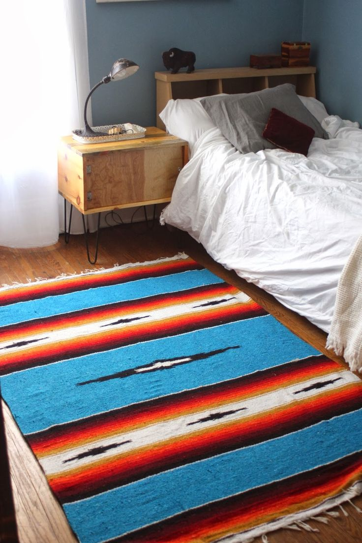 The DIY Iu0027ve been searching for, woo-hoo!!!!!!! Southwestern Area Rug on  the Cheap