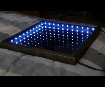 In this video I'll show you how to make an L.E.D Illusion Mirror using a box framed mirror, a roll of window tint and a strip of colour changing L.E.Ds. Items used- Mirrored box frame from- Found at a home decoration storeCar window tint film - auto storeColour changing L.E.D strip - DIY / lighting store4 small pieces of wood to use as spacersCheck out my video above to see how to make it!
