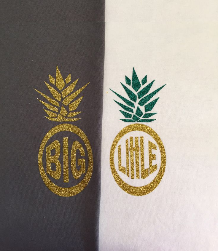 Big Little Pineapple Glitter Iron-on Monogram | DIY Monogram Shirt | Sorority Family Shirt  Bridesmaid Monogram by ColorMeUncommon on Etsy