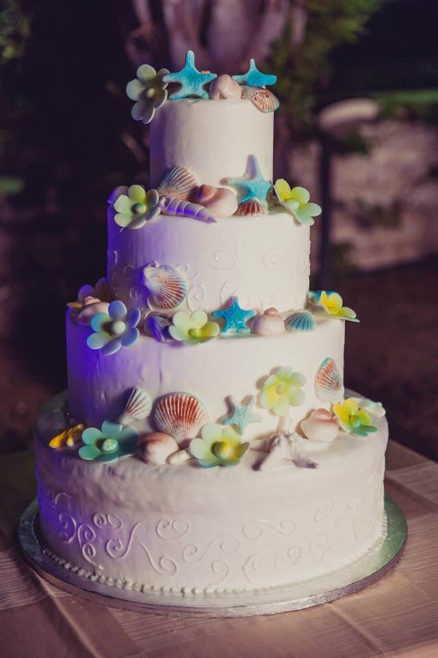 Www.fotozee.nl beach wedding cake