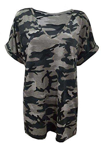 Fast Fashion – Jambières Plus La Taille Camouflage Armée Impression – Femmes