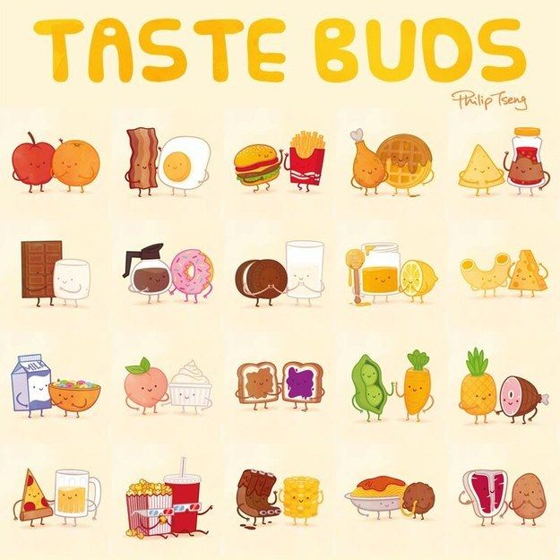 Designer and illustrator Philip Tseng recently completed his adorable food pairs series, Taste Buds. | Which Adorable Food Pair Are You And Your Best Friend?