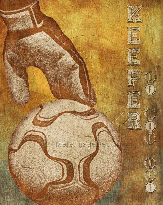 Soccer Goalie Poster #soccer #goalie #sports