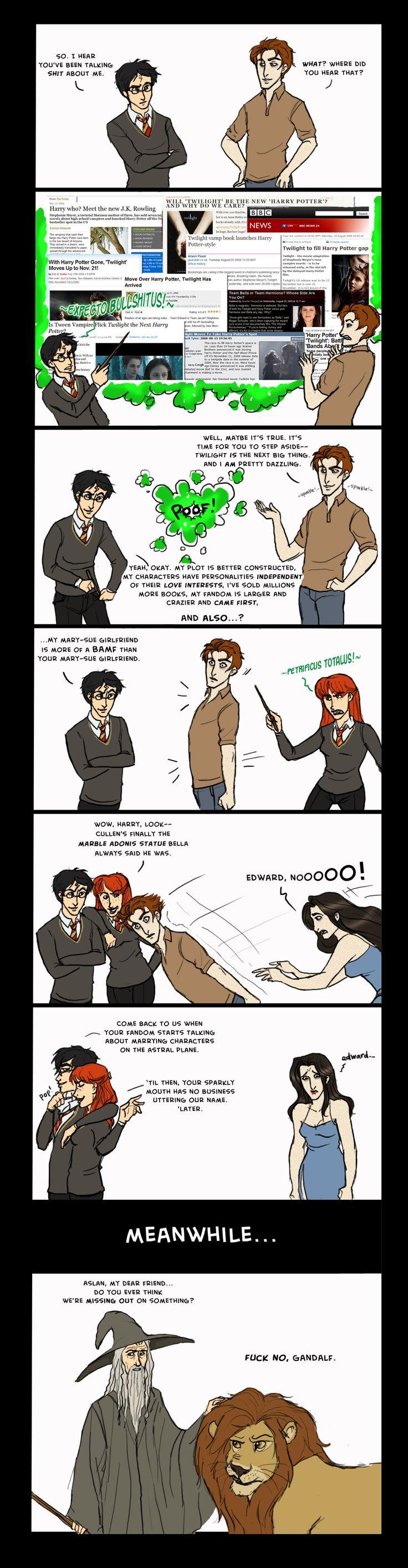 Showdown: HP vs. Twilight by ~EmpressFunk on deviantART