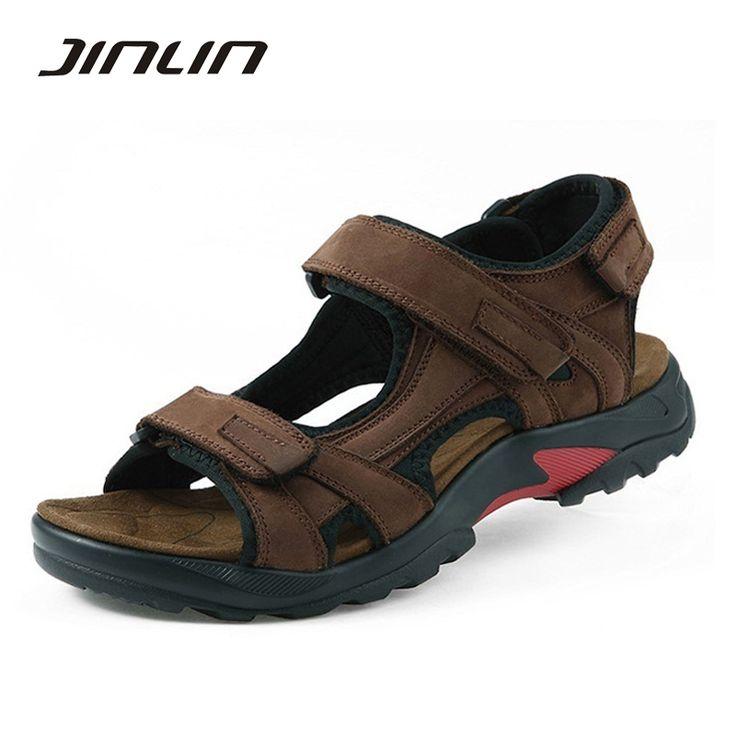 Top quality sandal 2017 men sandals summer genuine leather sandals men outdoor shoes men leather sandals plus size 46 47 48 #women, #men, #hats, #watches, #belts, #fashion, #style