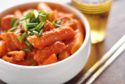 Recette Coréenne : Tteokbokki au poulet