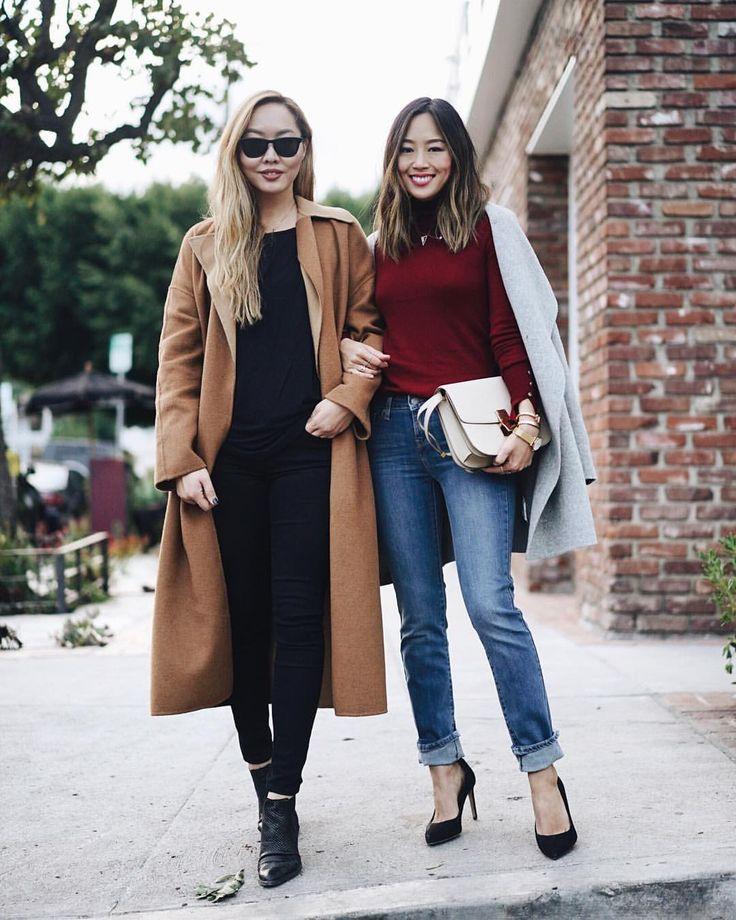 "Aimee Song on Instagram: ""Definitely feels like fall in L.A. @songdani and I in our @levis jeans. @macys #LadiesInLevis #710skinny #712slim"""