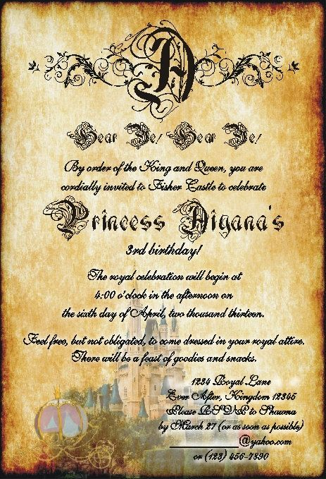 23 best Party Invitations images – Medieval Birthday Invitations