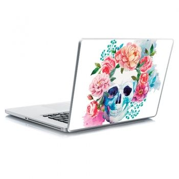 Αυτοκόλλητο laptop floral skull