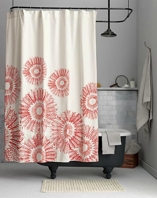 These Unique Shower Curtains from Top Designers Steal the Show: Arrow Medallion Shower Curtain