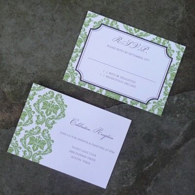 Reception Card Template U2013 Elegant Frame Design  Free Rsvp Card Template