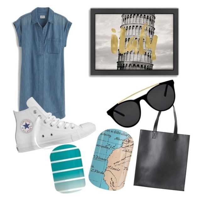 """""""Untitled #32"""" by staceywilson-2 on Polyvore featuring Americanflat, Monki, Smoke & Mirrors, J.Crew and Converse"""