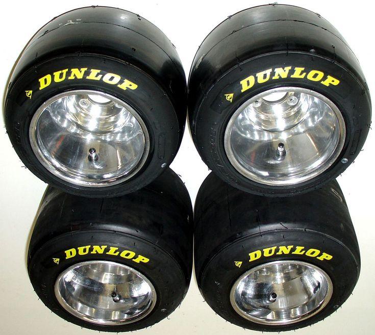 Set Of New Dunlop Racing Go Kart Tires Used Polished