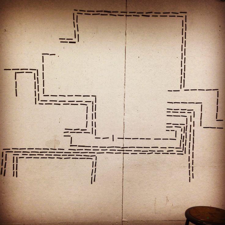 Wall art, tracking a process