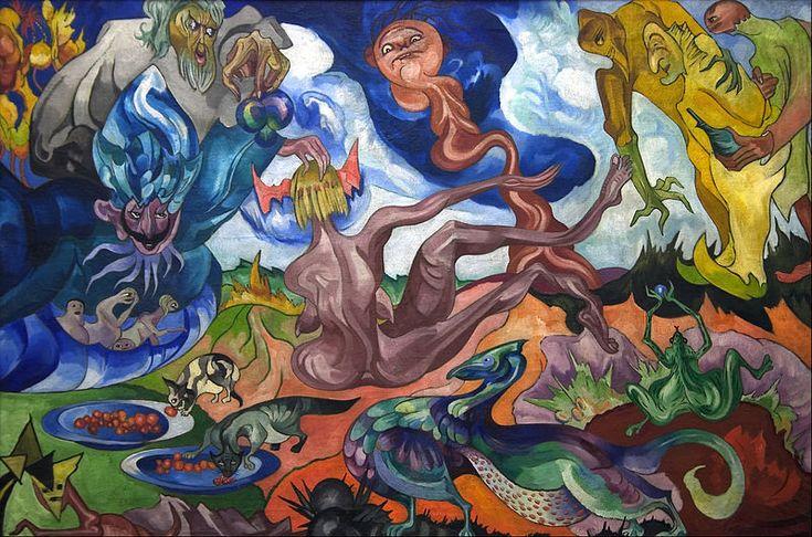 """""""Tworzenie świata"""" (""""Creation of the world"""") #Stanisław_Ignacy_Witkiewicz #witkacy"""
