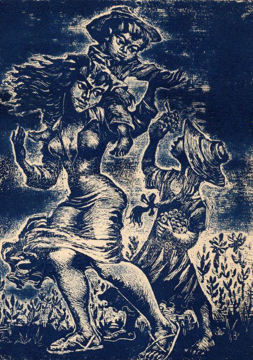 Pedro Lobos (1919-1968) Pintor y Grabador Chileno.
