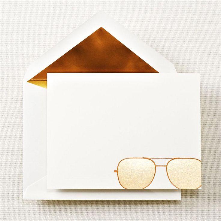 Aviator Glasses Correspondence Cards