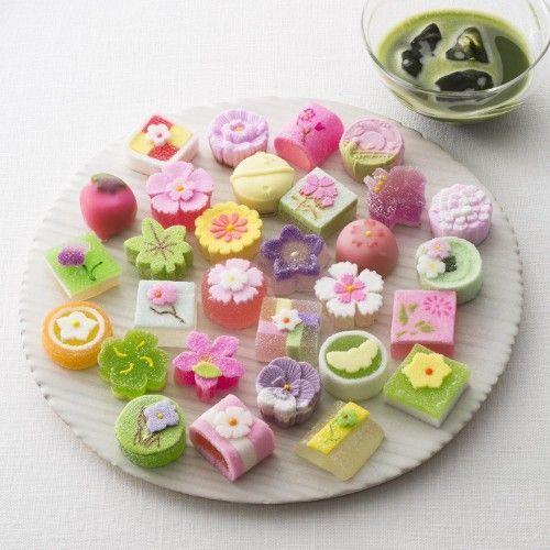 (3) Japanese wagashi jelly x Maccha   和菓子 Japanese sweets   Pinterest