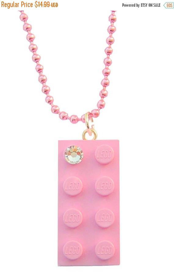 ON SALE Light Pink LEGO R brick 2x4 with a Diamond color #MademoiselleAlma #LEGO #ETSY