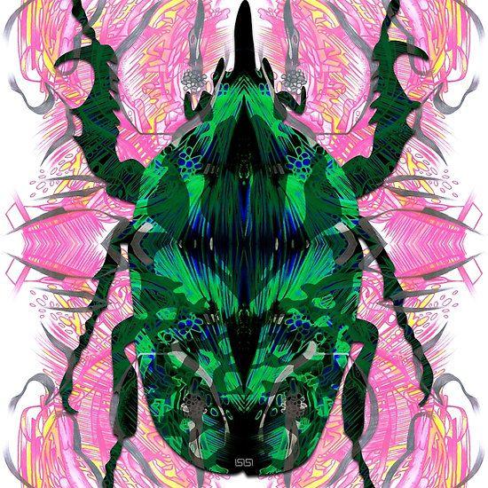 #beetle #bug #beetleabstract #bugabstract #bugpattern #inktober #sketchbook #samserif