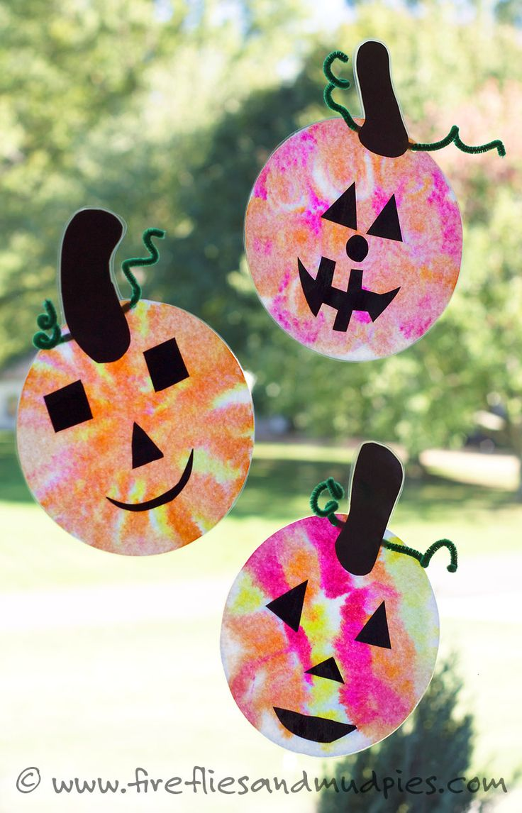 adorable coffee filter jack olantern suncatchers crafts at homefall - Halloween Crafts At Home