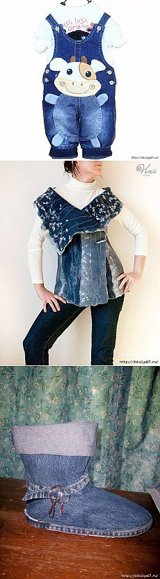 Super idea of denim and reworking of old jeans