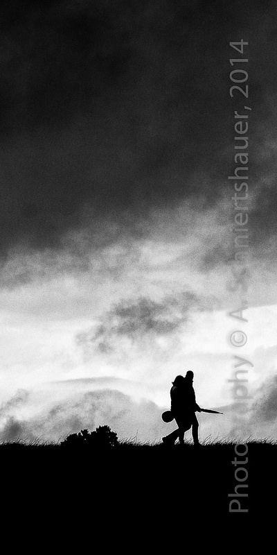 walking silhouettes III