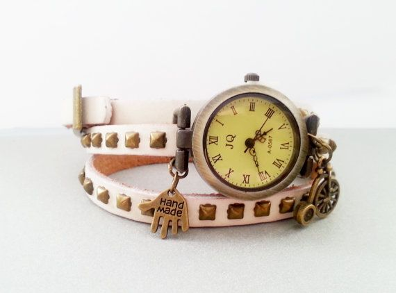 Light brown and white retro vintage leather by MKedraDecoupage, $23.00