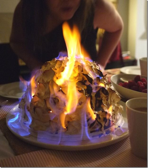 Flaming alaska cake recipe