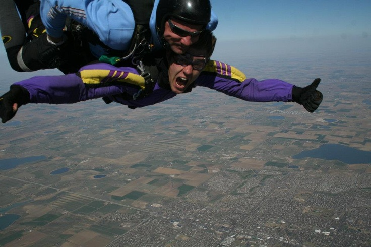 Silviu, taking a dive over Denver, during his internship at Beaver Creek, Colorado.
