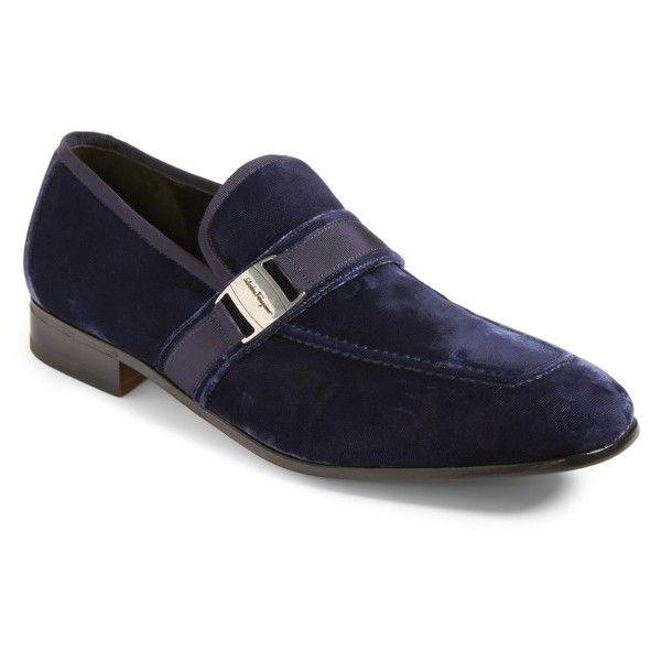 Men's Salvatore Ferragamo Danny 2 Bit Loafer (2.265 BRL) ❤ liked on  Polyvore featuring men's fashion, men's shoes, men's loafers, blue marine  velvet, ...