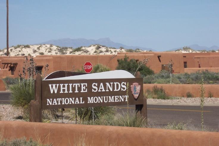 Alamogordo, NM. This is amazing. White sandy beaches and no water!