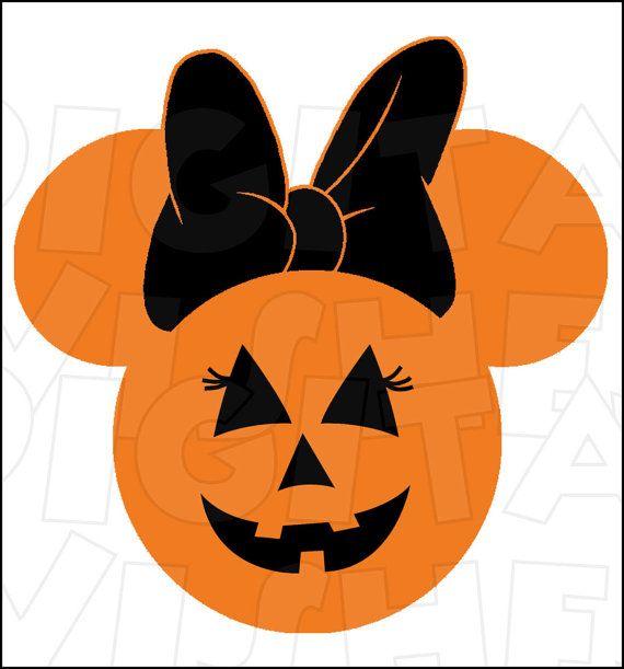 Minnie Mouse Jack O Lantern Pumpkin Halloween Digital Iron on