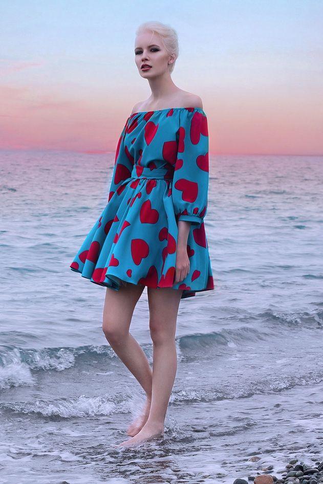 Платье «Маруся» мини принт сердце— 14990 рублей