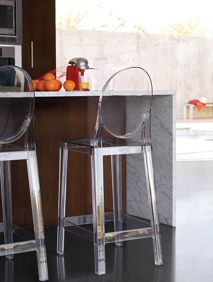 For indoors and out, this is the perfect counter stool. One More Counter Stool Designed by Philippe Starck