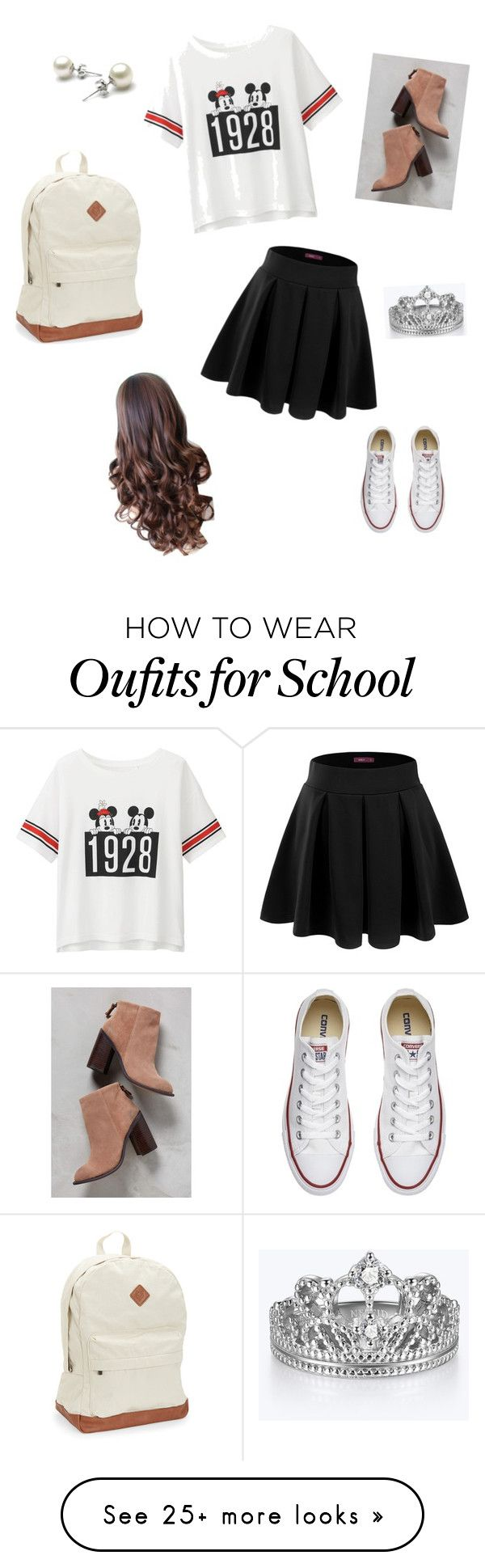 """Nice but Comfy for school"" by thesandlott on Polyvore featuring Uniqlo, Doublju, Kelsi Dagger Brooklyn, Aéropostale and Converse"