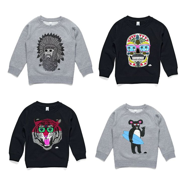 """Happy Queens Birthday long weekend! To celebrate all Mulga clothing is 20% off including sweet kids sweaters like these ones. Just use the code """"queensy"""" at checkout."""