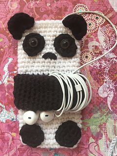 Ravelry: Cute Panda Cell Phone Case pattern by Tiffany Monson