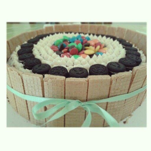 Torta de cumplea os cake galletitas dulce oreos for Tortas decoradas faciles
